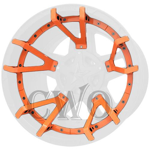 XD Series By KMC Wheels XD827 Rockstar 3 Split Spoke Inserts 827SS220-OR