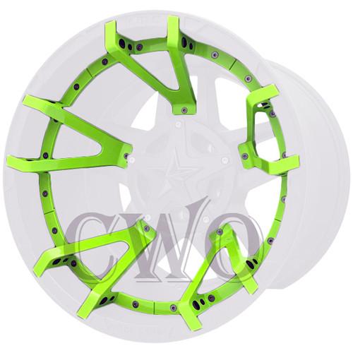 XD Series By KMC Wheels XD827 Rockstar 3 Split Spoke Inserts 827SS222-GN