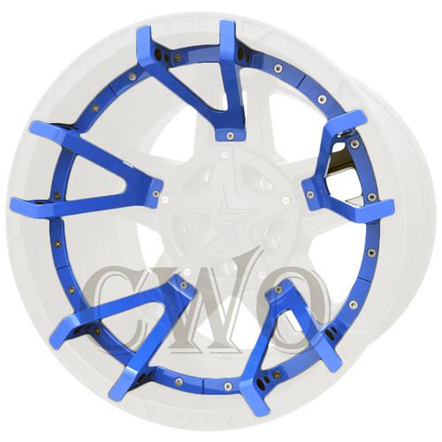 XD Series By KMC Wheels XD827 Rockstar 3 Split Spoke Inserts 827SS222-BL