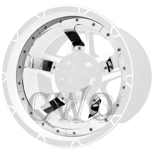 XD Series By KMC Wheels XD827 Rockstar 3 Mid Spoke Inserts 827MS222-CH