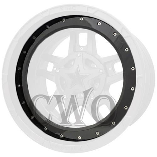 XD Series By KMC Wheels XD827 Rockstar 3 Bead Ring 827BR20-GB