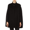 Cashmere Blended Cape, Black