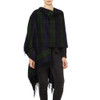 Cashmere Ruana Cape, Black Watch