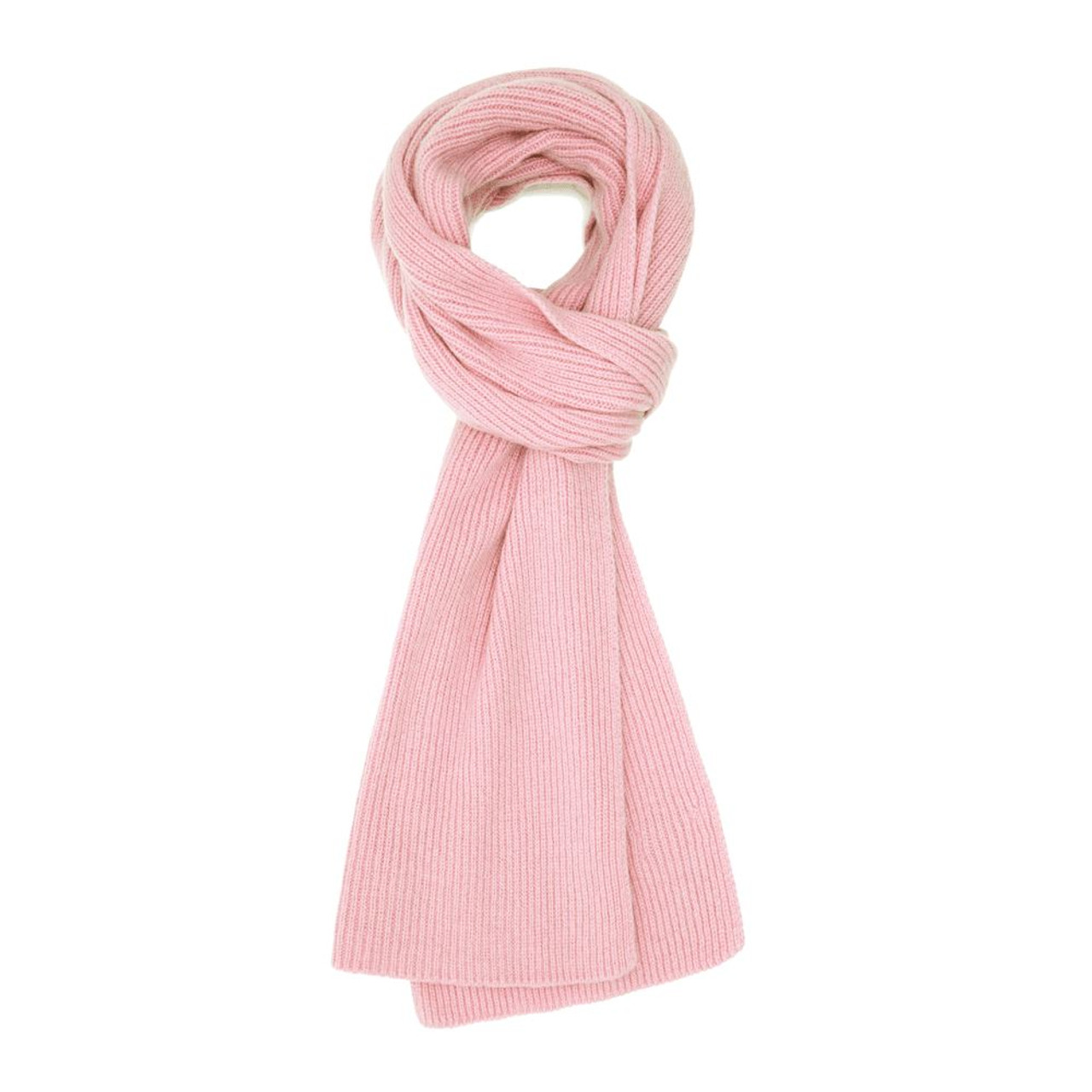 3eaa3eb72459cc Cashmere Ribbed Scarf, Pink - Cashmere