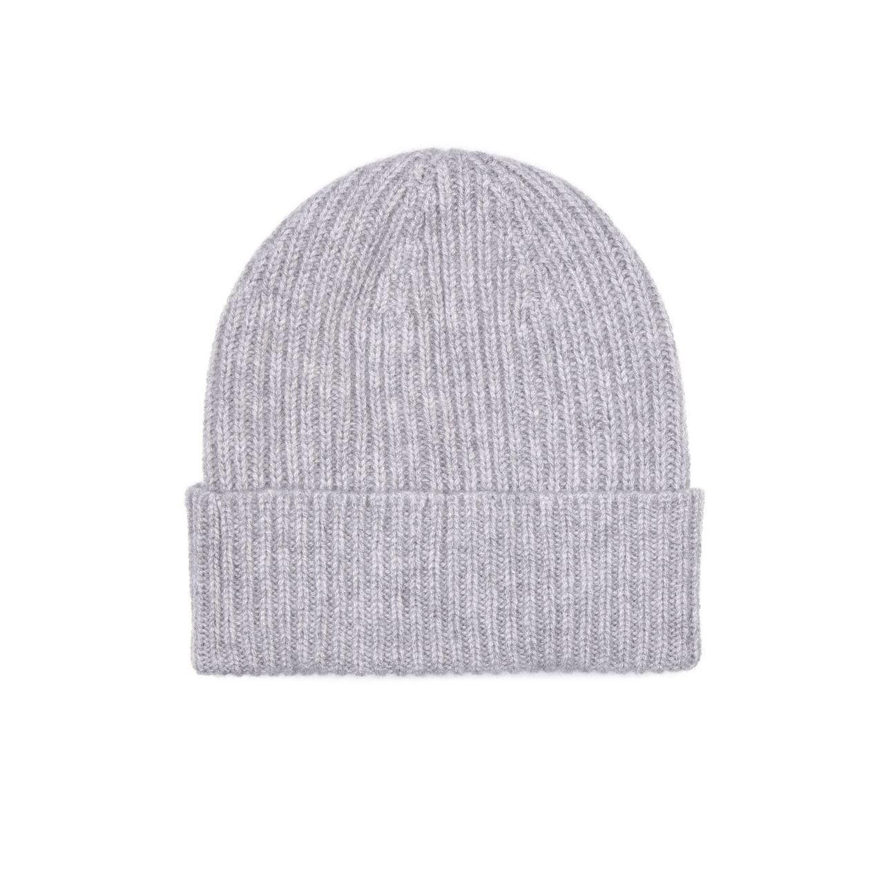 52dbabb56 Mens Cashmere Beanie Hat, Grey