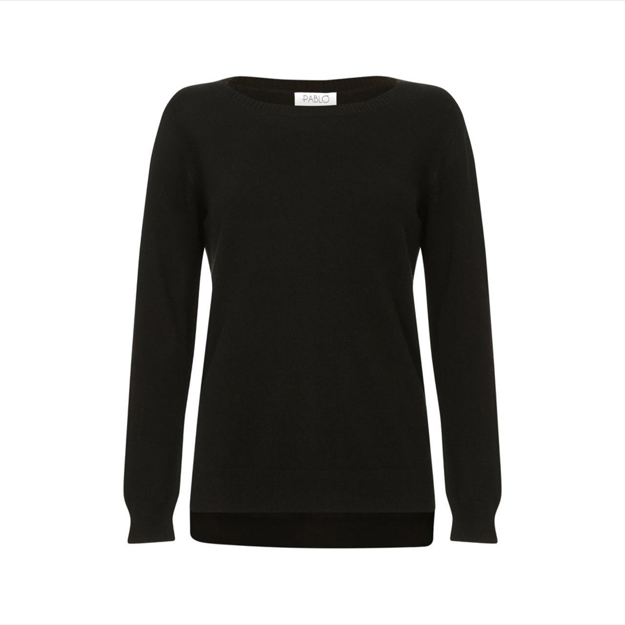 e06ecd543ae Cashmere Tunic Jumper, Black - Cashmere