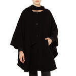 Cape with Scarf, Black