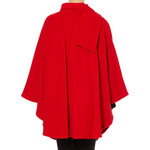 Cape with Scarf, Red
