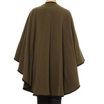 Cape with Trim, Olive