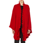 Cashmere Frilly Cape, Red