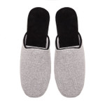 Mens Cashmere Slippers, Grey
