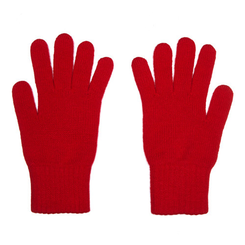 Cashmere Gloves, Red