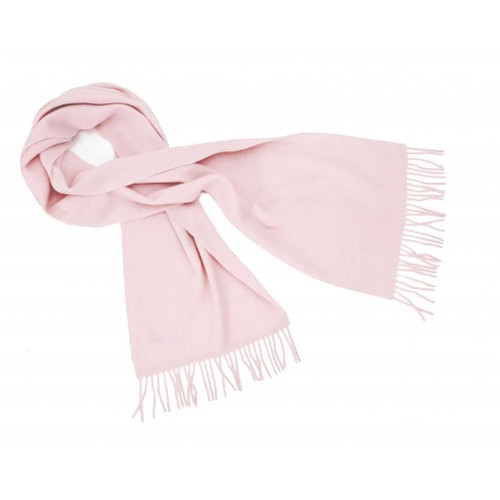 Cashmere Plain Scarf, Light Pink