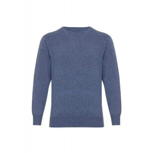 Cashmere Round Neck Jumper, Denim