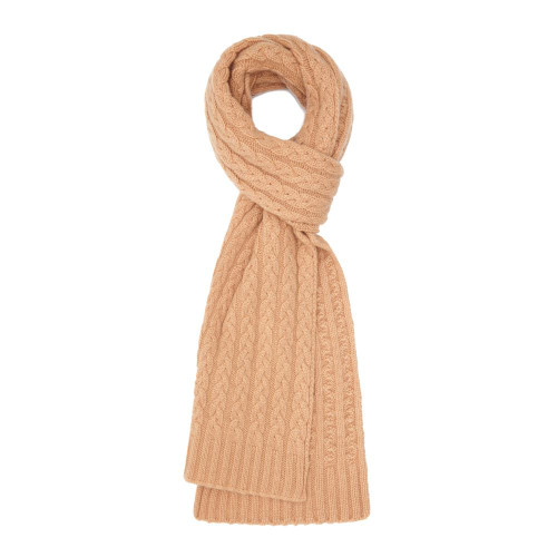 Cashmere Cable Scarf, Beige
