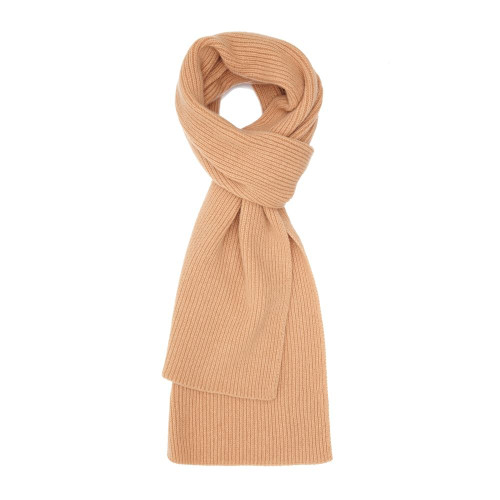 Cashmere Ribbed  Scarf, Beige
