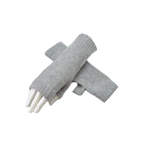 Cashmere Fingerless Mitts, Flannel