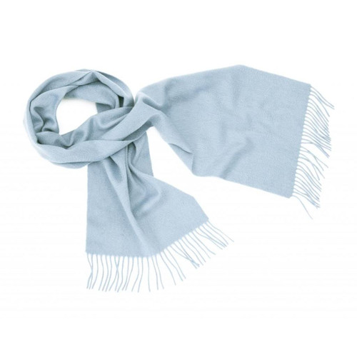 Cashmere Plain Scarf, Light Blue