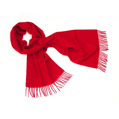 Cashmere Plain Scarf, Red