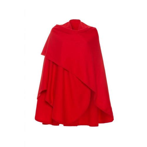 Cashmere Woven Cape, Red