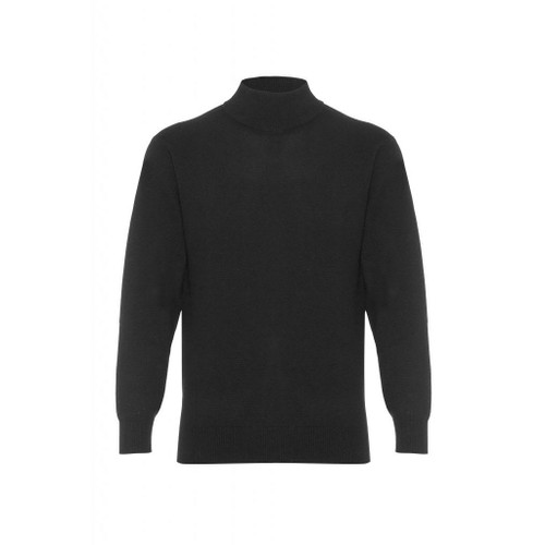 Cashmere High Neck Jumper, Black