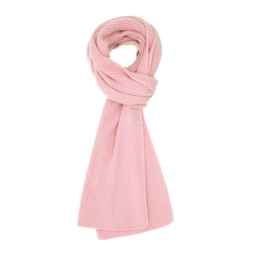 Cashmere Ribbed  Scarf, Pink