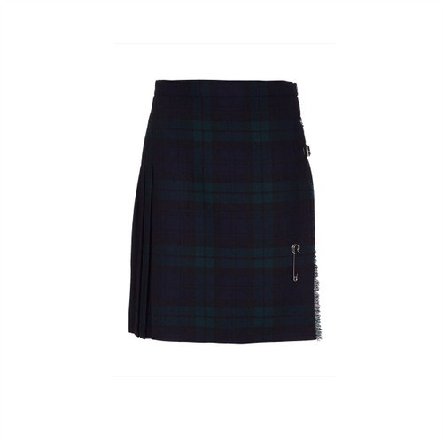Ladies Pure Wool Kilt, Short, Back Watch