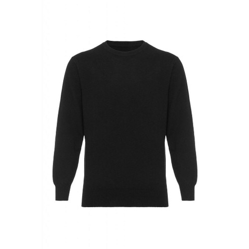 Cashmere Round Neck Jumper, Black