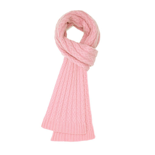 Cashmere Cable Scarf, Pink