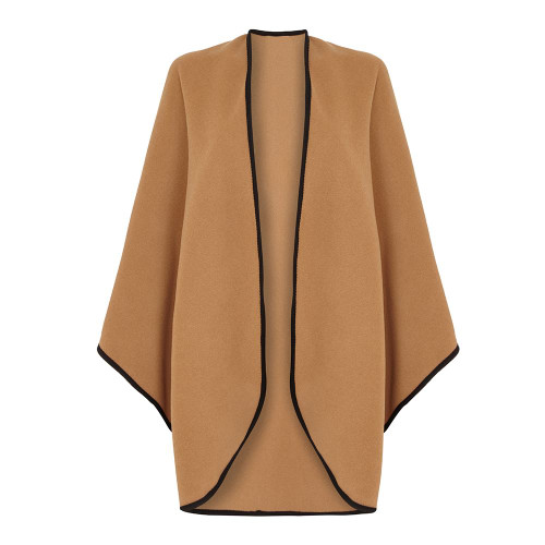 Cape with Trim, Camel