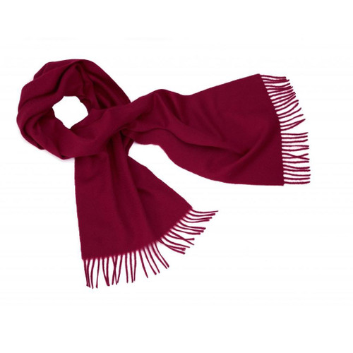 Cashmere Plain Scarf, Maroon