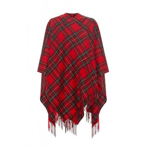 Cashmere Ruana Cape, Royal Stewart