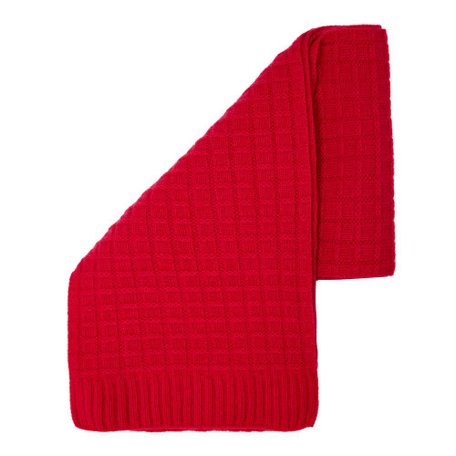 Cashmere Squared Scarf, Red