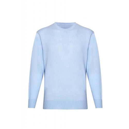 Cashmere Round Neck Jumper, Light Blue