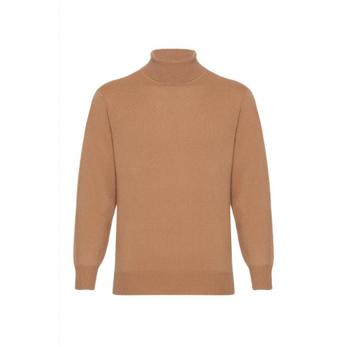 Cashmere High Neck Jumper, Beige