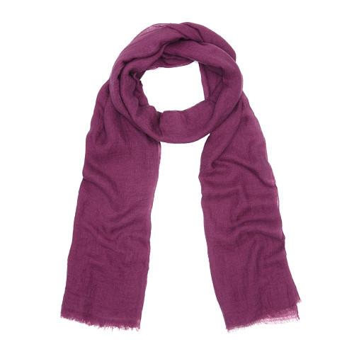 Fine Cashmere Scarf, Purple