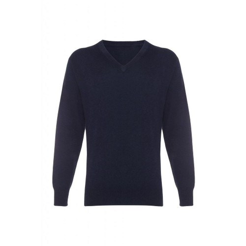 Cashmere  V Neck  Jumper, Navy