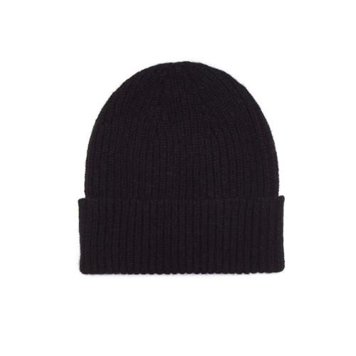 Cashmere Beanie Hat, Black