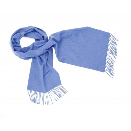 Cashmere Plain Scarf, Electric Blue