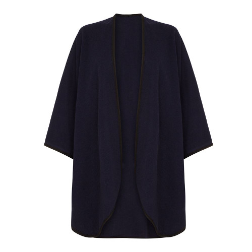Cape with Trim, Navy