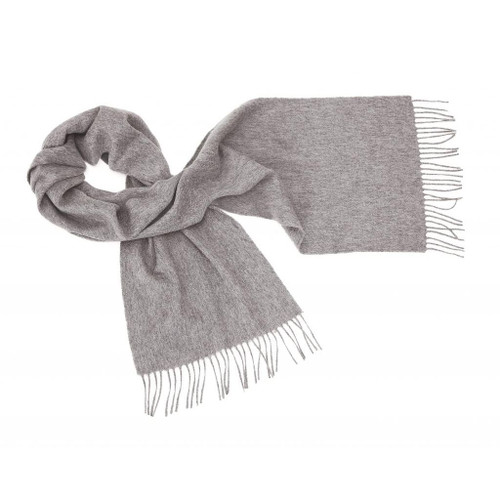 Cashmere Plain Scarf, Grey