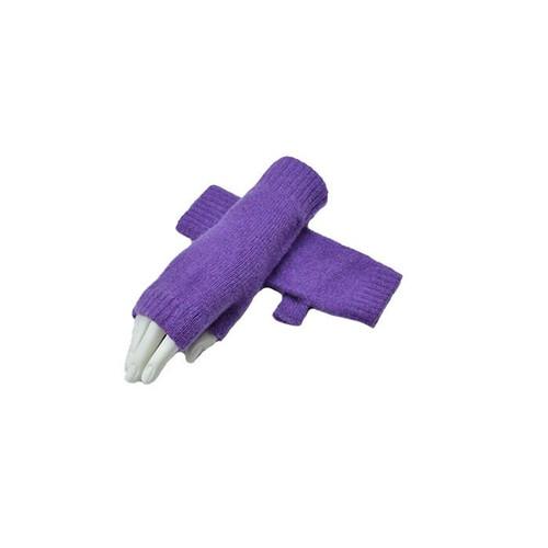 Cashmere Fingerless Mitts, Purple