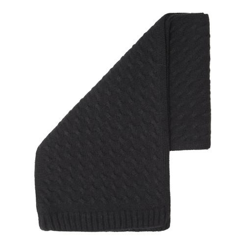 Cashmere Squared Scarf, Black