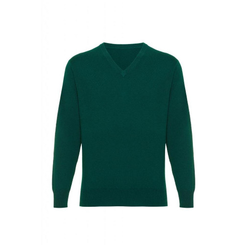 Cashmere  V Neck  Jumper, Green