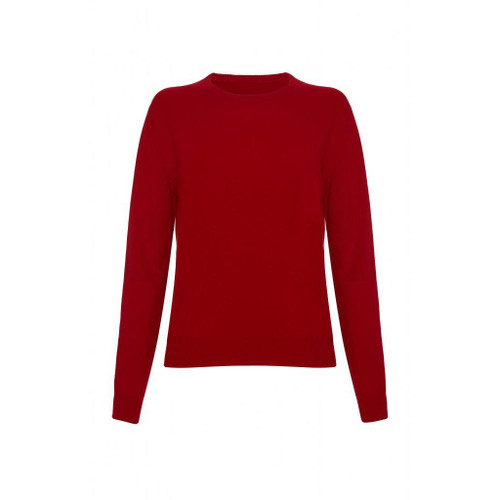 Cashmere Round Neck Jumper, Red