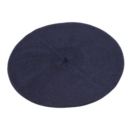Cashmere Beret, Navy