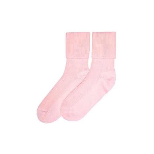 Ladies Cashmere Socks, Pale Pink