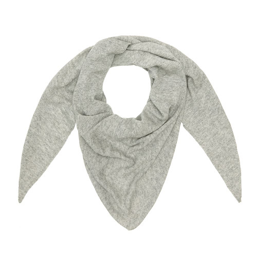 Cashmere Triangle Scarf, Grey