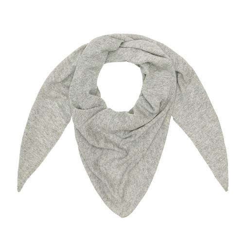 Cashmere Triangle Scarf, Grey