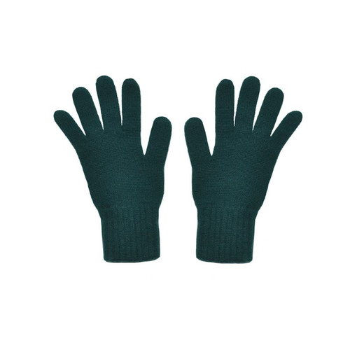 Cashmere Gloves, Bottle Green
